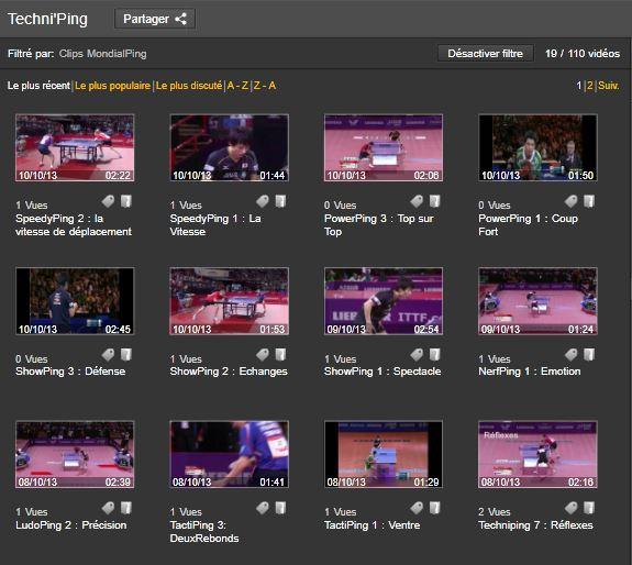 Clips Vidéo Mondial Ping