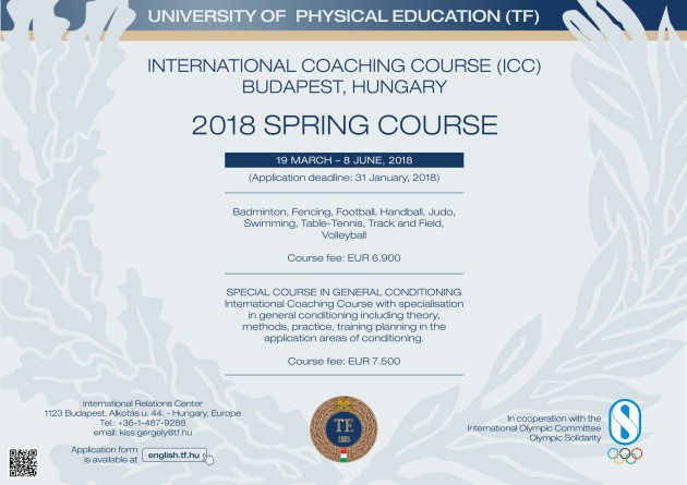 TF International Couching Course (flyer) (1 course)